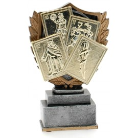 Trofeo carte cm 14