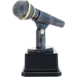 Trofeo microfono cm 14