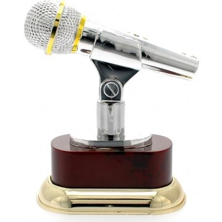 Trofeo microfono cm 19