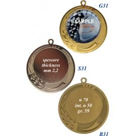 Conf. 100 medaglie mm 70