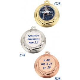 Conf. 100 medaglie mm 40