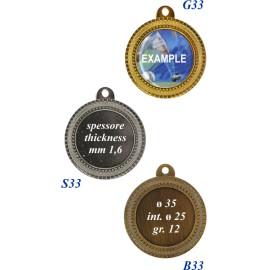 Conf. 100 medaglie mm 35