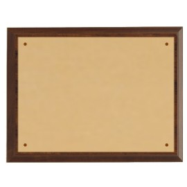 Targa ottone+legno 20,3x15,2