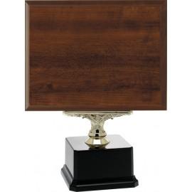 Targa legno+base cm 26