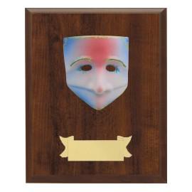 Maschera+legno cm 16x11