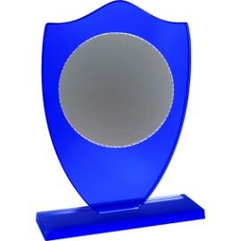 Trofeo cristallo cm 17+piatto