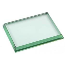 Fermacarte cristallo cm 13,5x10,5x1,5